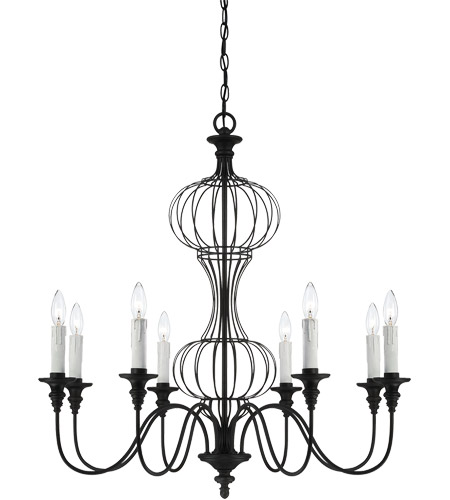 Savoy House Abagail 8 Light Chandelier in Forged Black 1-6011-8-17