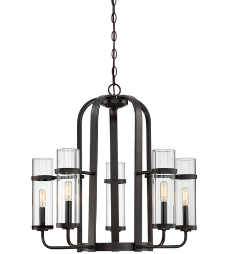Tulsa 5 Light 26 Inch English Bronze Chandelier Ceiling
