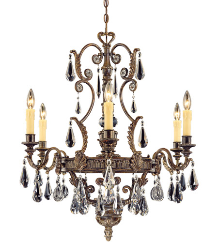 Savoy House Marseille 6 Light Chandelier in Moroccan Bronze 1-6202-6-241 photo