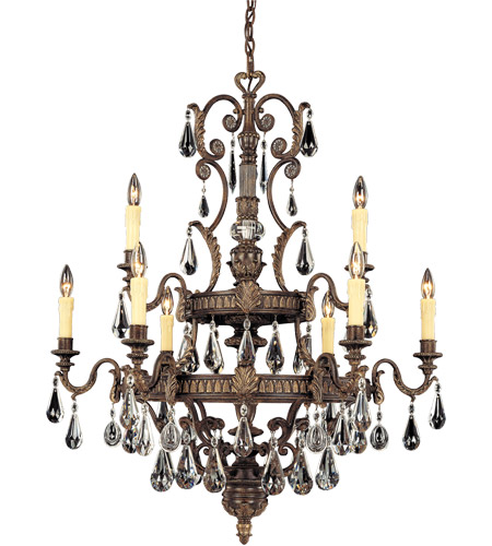 Savoy House 1-6203-9-241 Marseille 9 Light 36 inch Moroccan Bronze Chandelier Ceiling Light photo