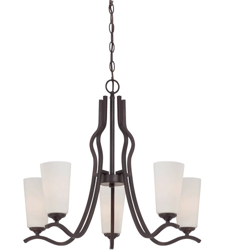 Savoy House Charlton 5 Light Chandelier in English Bronze 1-6220-5-13 photo
