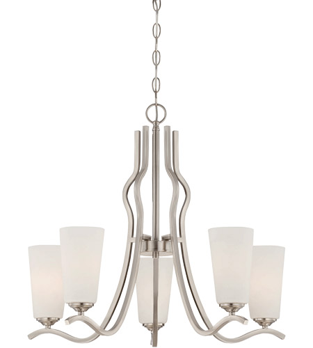 Savoy House Charlton 5 Light Chandelier in Satin Nickel 1-6220-5-SN