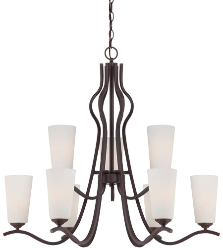 Savoy House Charlton 9 Light Chandelier in English Bronze 1-6221-9-13 photo