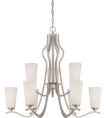 Savoy House Charlton 9 Light Chandelier in Satin Nickel 1-6221-9-SN
