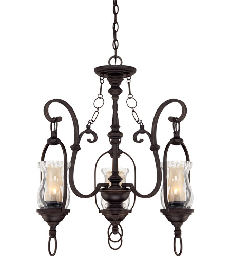 Savoy House Shadwell 3 Light Chandelier in English Bronze w/Gold 1-6720-3-213 photo