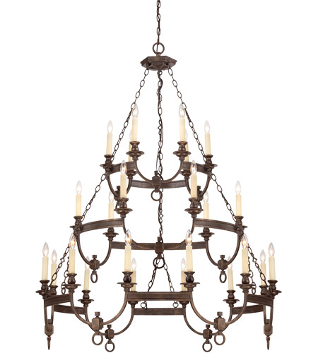 Savoy House Bastille 24 Light Chandelier in Heritage Bronze 1-6747-24-117
