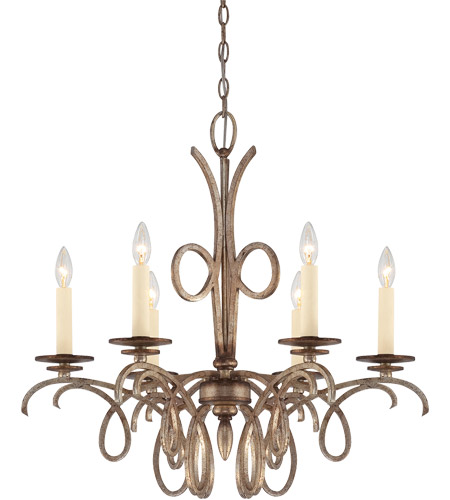 Savoy House Thyme 6 Light Chandelier in Oxidized Silver 1-6770-6-128 photo
