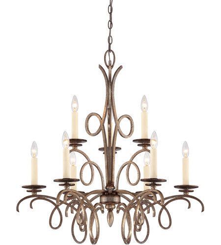 Savoy House Thyme 9 Light Chandelier in Oxidized Silver 1-6772-9-128 photo