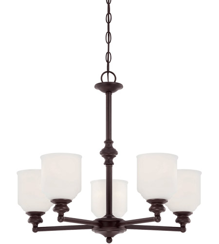 Savoy House Melrose 5 Light Chandelier in English Bronze 1-6837-5-13 photo