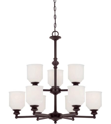 Melrose 9 Light 26 Inch English Bronze Chandelier Ceiling