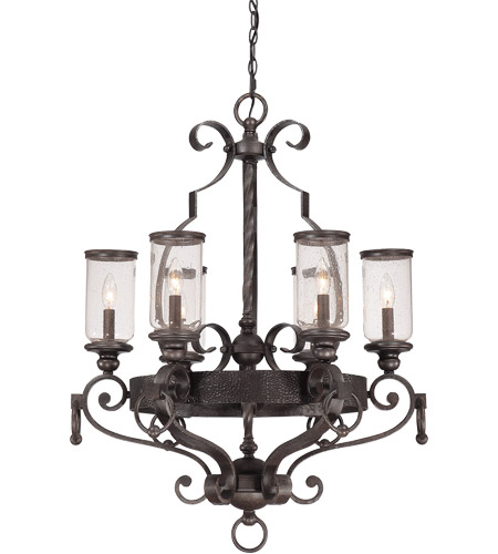 Savoy House Highlands 6 Light Chandelier in Forged Black 1-6980-6-17 photo