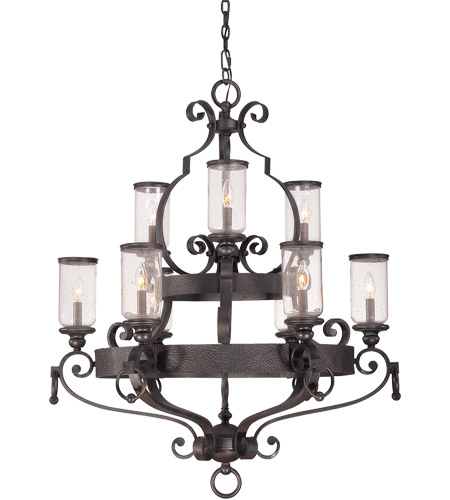 Savoy House Highlands 9 Light Chandelier in Forged Black 1-6981-9-17 photo