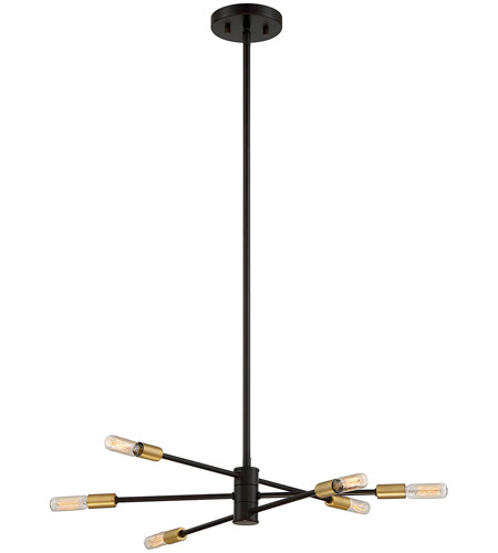 Savoy House 1 7000 6 77 Lyrique Light 22 Inch Bronze With Br Accents Chandelier Ceiling