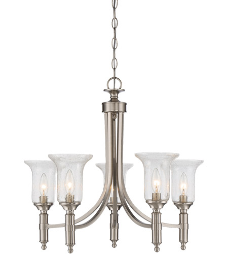 Savoy House 1-7130-5-SN Trudy 5 Light 25 inch Satin Nickel Chandelier Ceiling Light photo