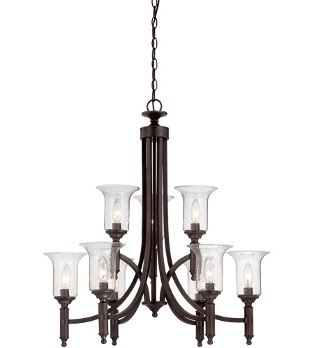 Savoy House 1-7131-9-13 Trudy 9 Light 28 inch English Bronze Chandelier Ceiling Light photo