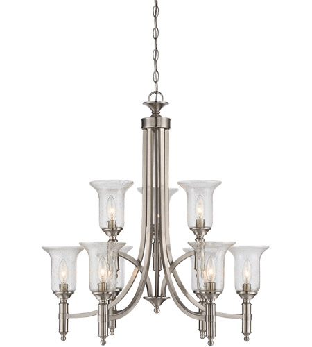 Savoy House 1-7131-9-SN Trudy 9 Light 28 inch Satin Nickel Chandelier Ceiling Light photo