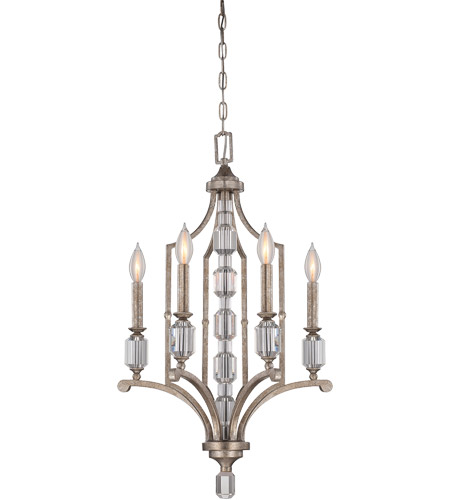 Savoy House Filament 4 Light Chandelier in Silver Dust 1-7150-4-272 photo