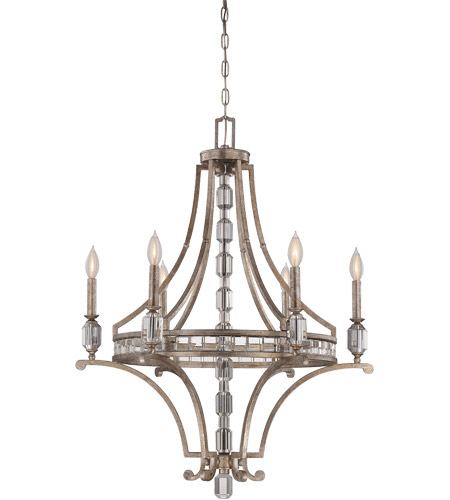 Savoy House Filament 6 Light Chandelier in Silver Dust 1-7151-6-272