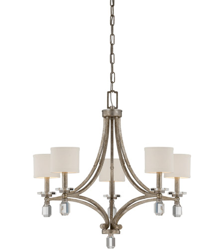 Savoy House 1-7153-5-272 Filament 5 Light 25 inch Silver Dust Chandelier Ceiling Light photo