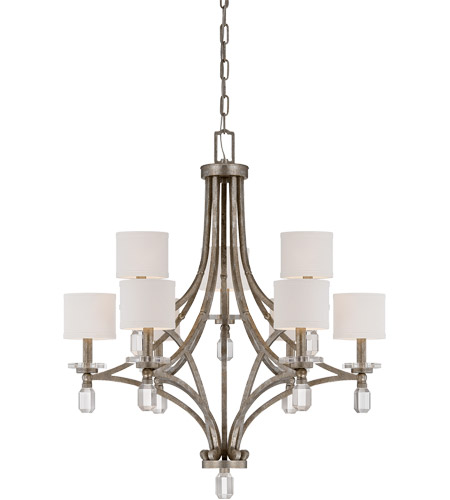 Savoy House Filament 9 Light Chandelier in Silver Dust 1-7155-9-272 photo