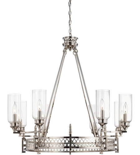 Savoy House Coronado 8 Light Chandelier in Polished Nickel 1-7171-8-109