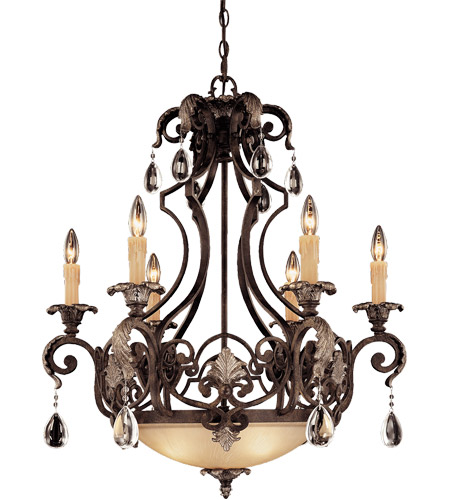 Savoy House Chinquapin 6 Light Chandelier in Moroccan Bronze 1-7180-6-241