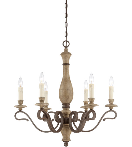 Savoy House Mallory 6 Light Chandelier in Fossil Stone 1-7400-6-39