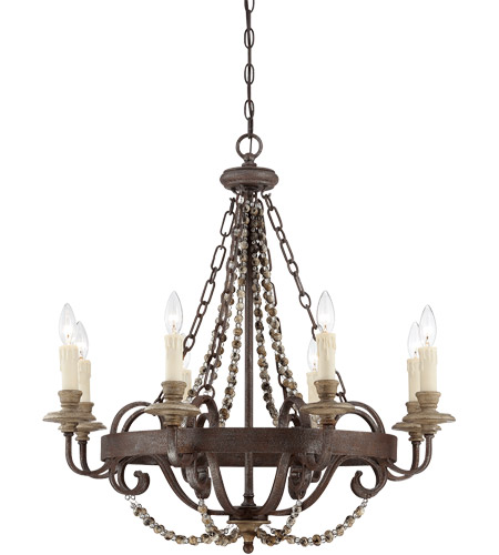 Savoy House 1-7401-8-39 Mallory 8 Light 29 inch Fossil Stone Chandelier Ceiling Light photo