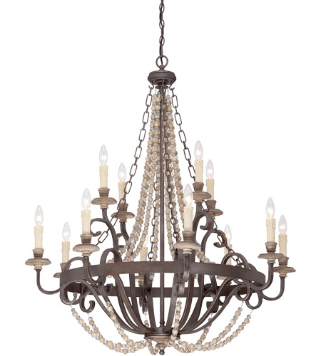 Savoy House Mallory 12 Light Chandelier in Fossil Stone 1-7405-12-39