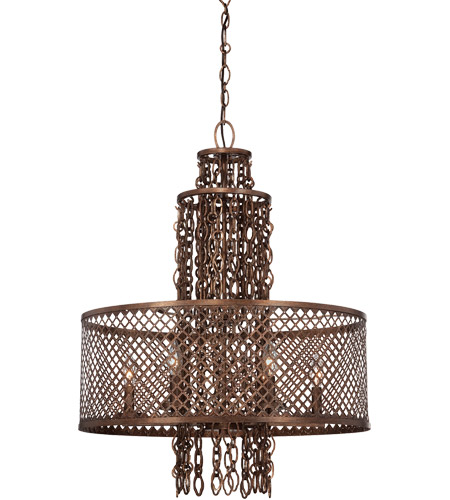 Savoy House Barclay 6 Light Chandelier in Guilded Bronze 1-7600-6-131 photo