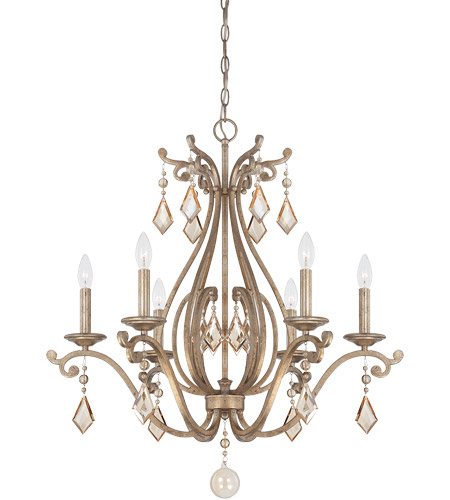 Savoy House 1-8100-6-128 Rothchild 6 Light 28 inch Oxidized Silver Chandelier Ceiling Light photo