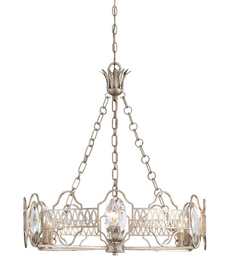 Savoy House 1-8170-6-211 Hyde Park 6 Light 26 inch Argentum Chandelier Ceiling Light photo