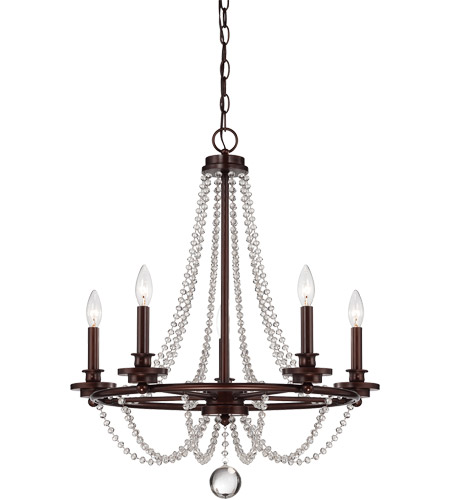 Savoy House 1-8350-5-121 Byanca 5 Light 24 inch Mohican Bronze Chandelier Ceiling Light photo