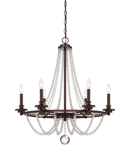 Savoy House Byanca 6 Light Chandelier in Mohican Bronze 1-8351-6-121