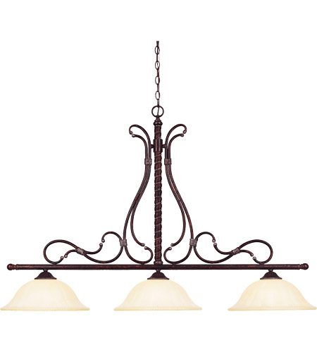 Savoy House Kensley 3 Light Island Light in Distressed Bronze 1-8614-3-59 photo