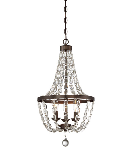 savoy house signature 3 light 13 inch oiled burnished