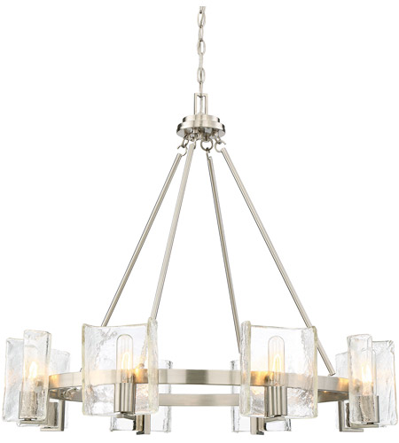 Savoy House 1 9051 8 Sn Handel Light 33 Inch Satin Nickel Chandelier Ceiling