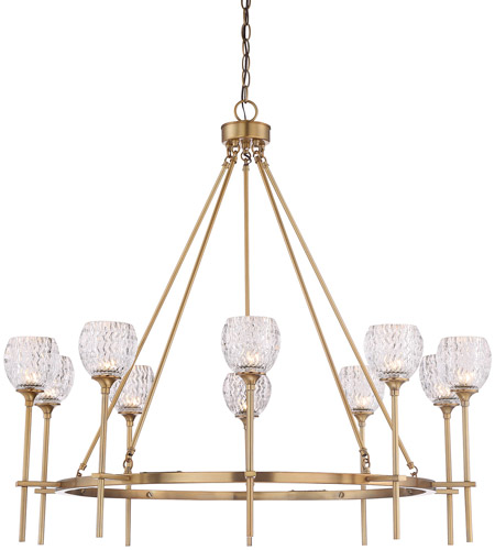 Savoy House 1-9102-10-322 Garland 10 Light 38 inch Warm Brass Chandelier Ceiling Light photo