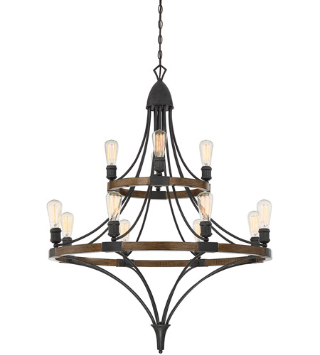 Savoy House 1-9112-12-68 Turing 12 Light 36 inch Whiskey Wood Chandelier Ceiling Light photo