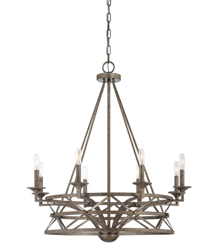 Savoy House Rail 8 Light Chandelier in Antique Nickel 1-9120-8-285 photo