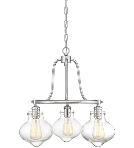 Savoy House 1-9403-3-11 Allman 3 Light 20 inch Polished Chrome Chandelier Ceiling Light photo