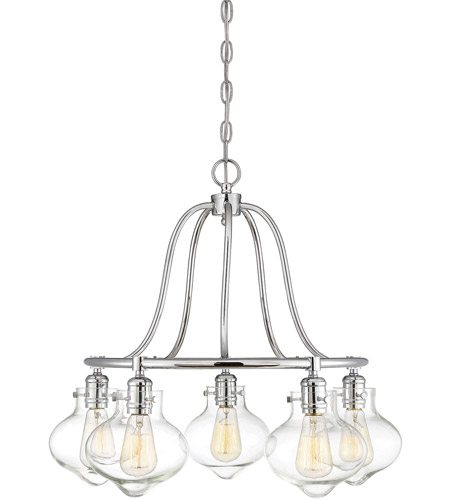 Savoy House 1-9404-5-11 Allman 5 Light 25 inch Polished Chrome Chandelier Ceiling Light photo