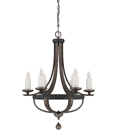 Savoy House Alsace  6 Light Chandelier in Reclaimed Wood 1-9530-6-196 photo