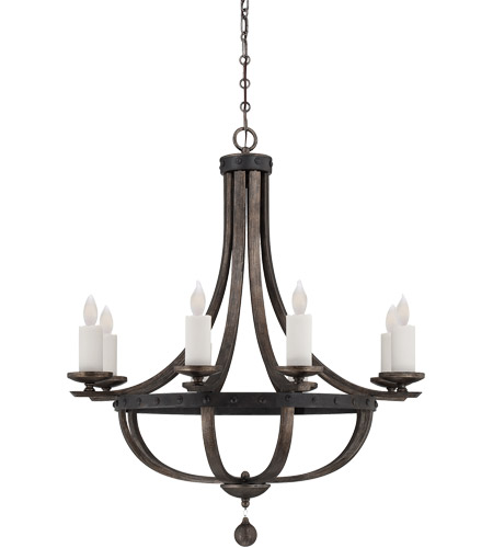 Savoy House Alsace  8 Light Chandelier in Reclaimed Wood 1-9531-8-196 photo
