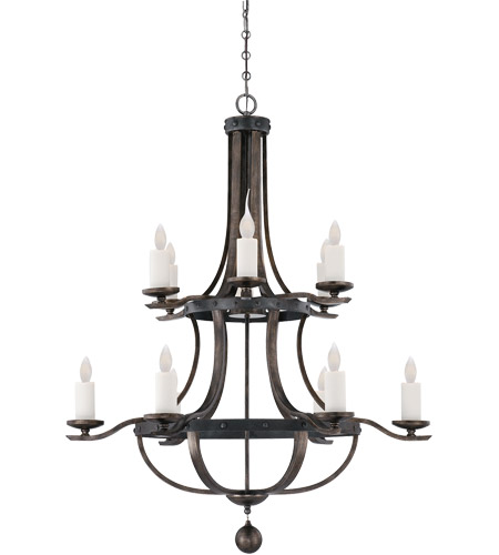 Savoy House 1-9532-12-196 Alsace 12 Light 38 inch Reclaimed Wood Chandelier Ceiling Light photo
