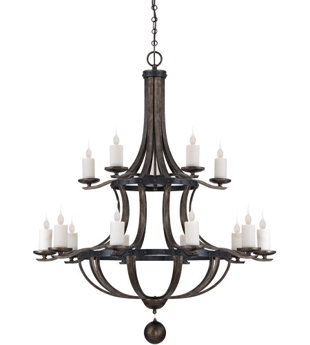 Savoy House Alsace 15 Light Chandelier in Reclaimed Wood 1-9533-15-196