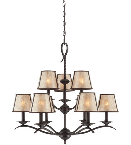 Savoy House Kennebec 9 Light Chandelier in Slate 1-9622-9-25 photo