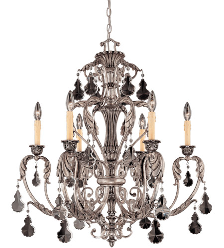 Savoy House Florita 6 Light Chandelier in Silver Lace 1-9720-6-176 photo