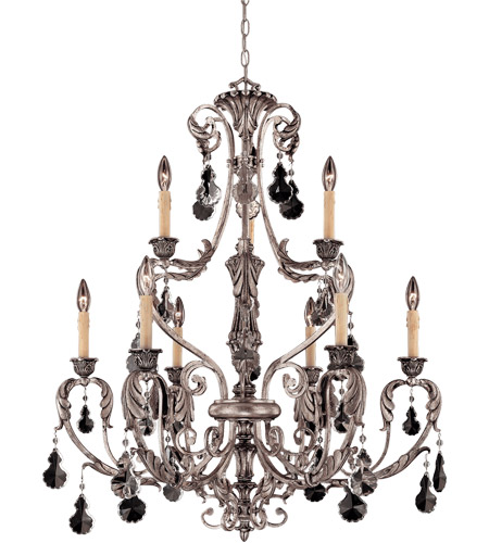 Savoy House Florita 9 Light Chandelier in Silver Lace 1-9721-9-176