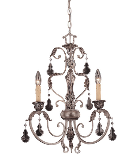 Savoy House Florita 3 Light Chandelier in Silver Lace 1-9724-3-176 photo